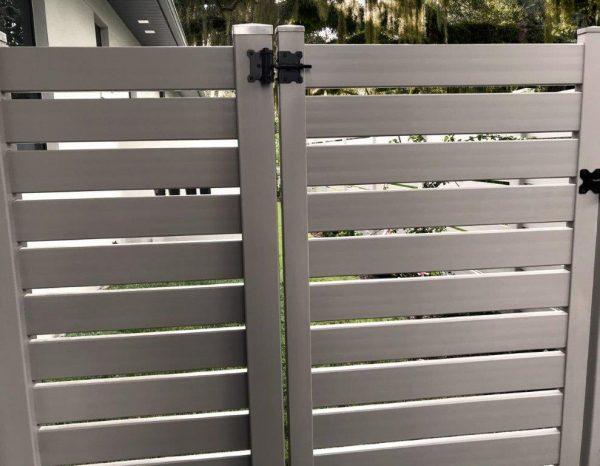 Slate Semi-Privacy Gate