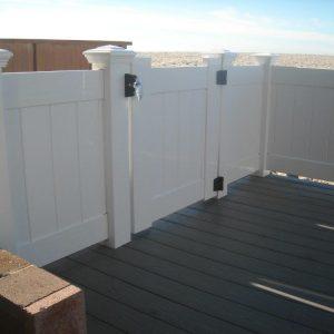 White Solid Privacy Gate