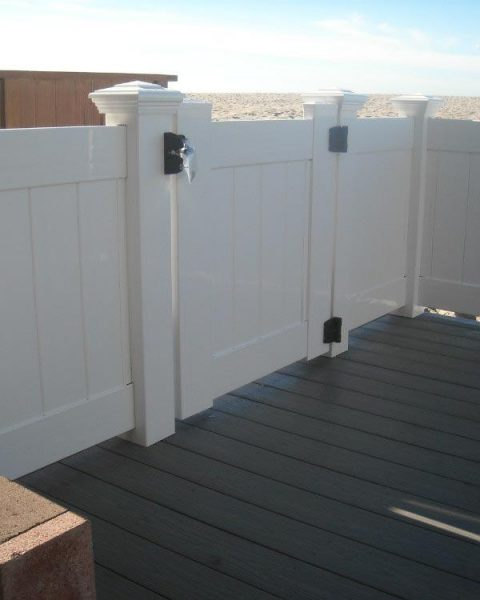 White Solid Privacy Gate