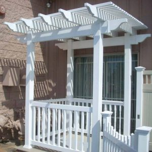 White Patio Cover