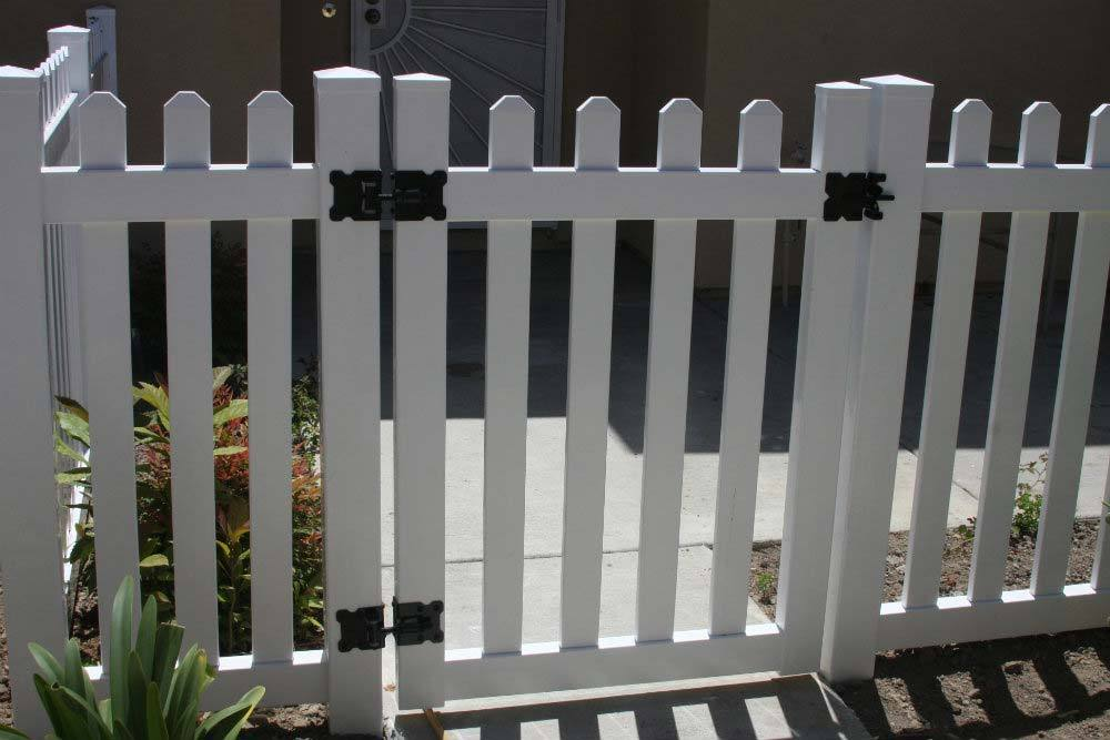 White Vinyl Straight Picket Gate