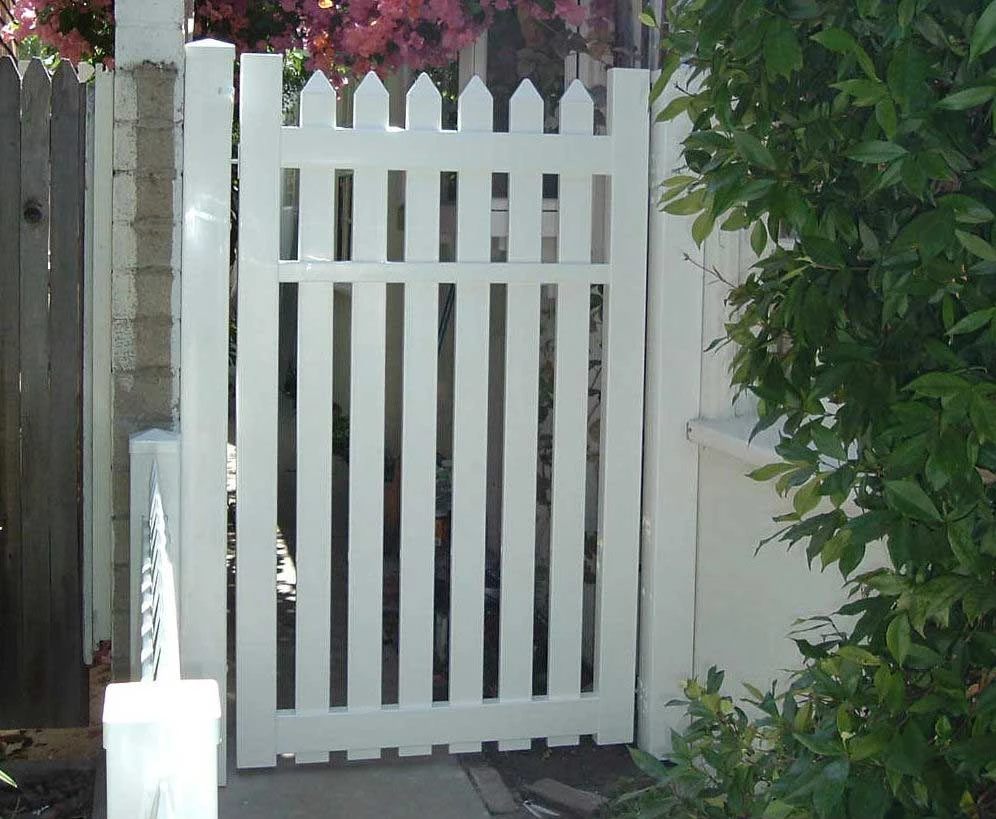 White Straight Picket Gate