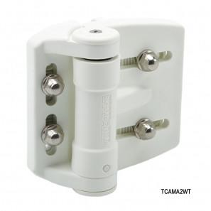 White TruClose Regular Mini Multi Adjust Gate Hinge - D&D Technologies