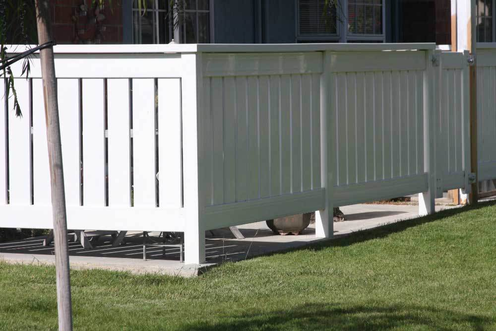 White Semi-Privacy Vinyl Fencing