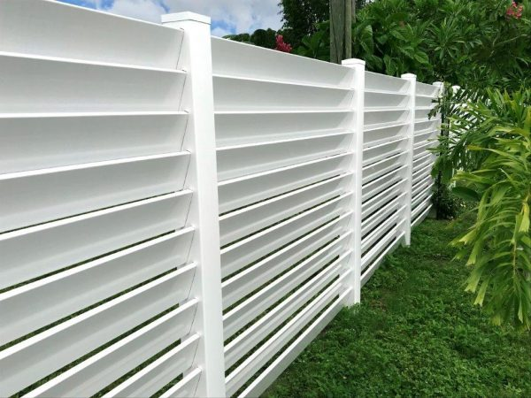 White Louvered Fence