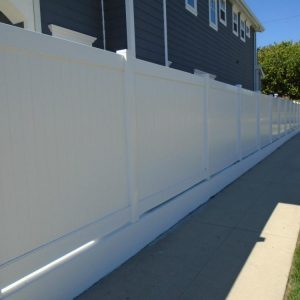 White Vinyl Solid Privacy