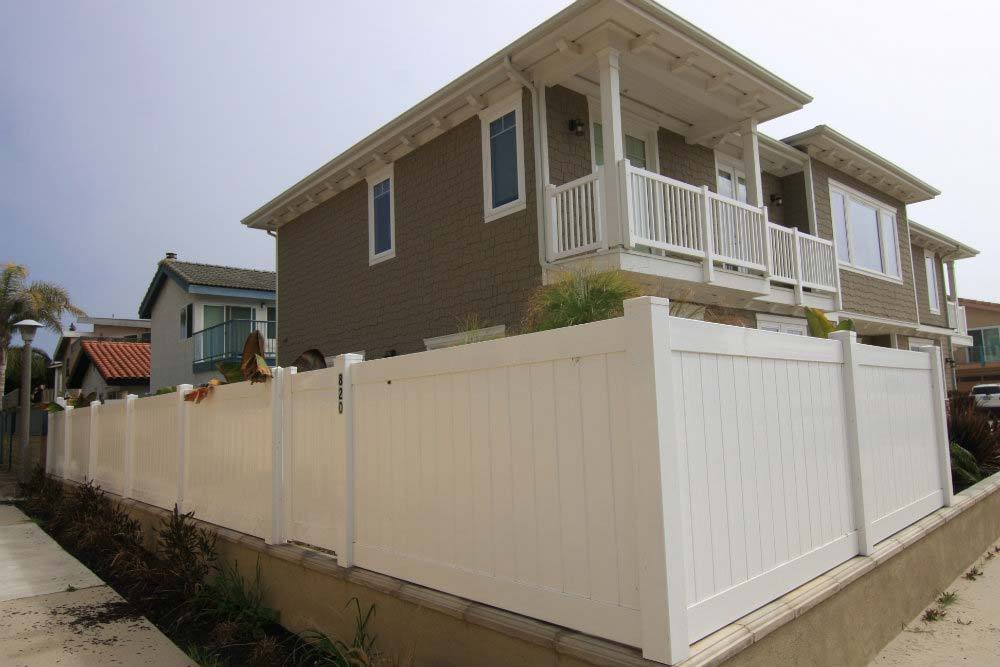 White Solid Vinyl Privacy Fencing