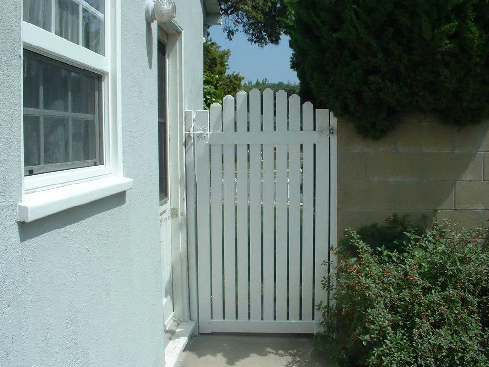 White Routed Arched Picket Gate