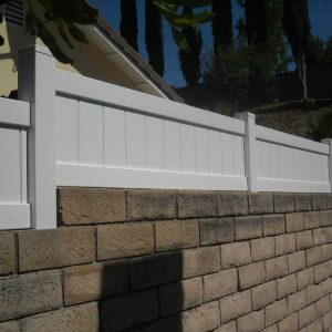 White Vinyl Solid Privacy Step