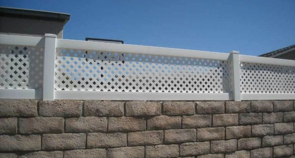 White Vinyl Privacy Lattice