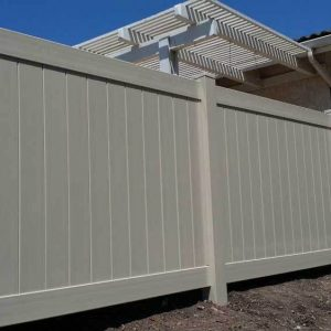 Khaki Solid Vinyl Privacy Fencing