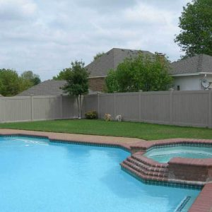 Multi-Grain Solid Vinyl Privacy Fencing